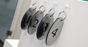Zahlenmarken Schlüsselanhänger