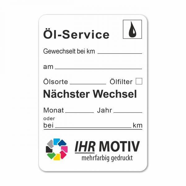 """Service-Aufkleber aus PVC-Folie, Größe: 45 x 65 mm, Motiv """"Öl-Service"""""""