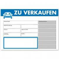 """Verkaufsschild DIN A4 """"ZU VERKAUFEN"""", mit Universal-Preisfeld"""