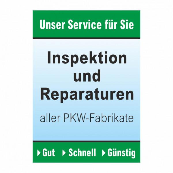 "Plakat DIN A1 ""Inspektion und Reparaturen"""
