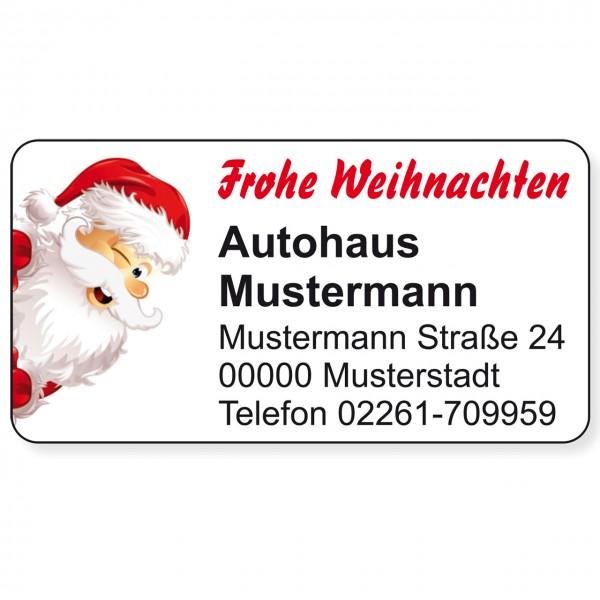 """Weihnachts-Aufkleber, Motiv """"Santa"""""""