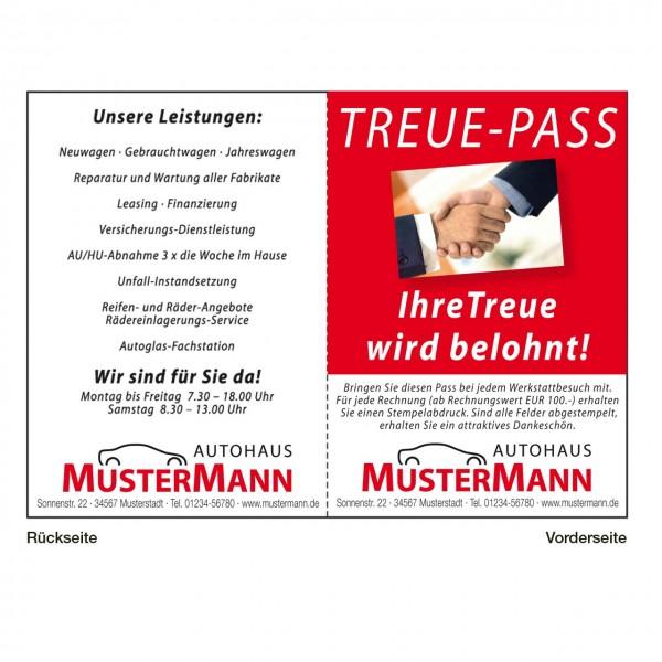 """Treue-Pass, Motiv: """"Hände"""" mit Farbhintergrund"""