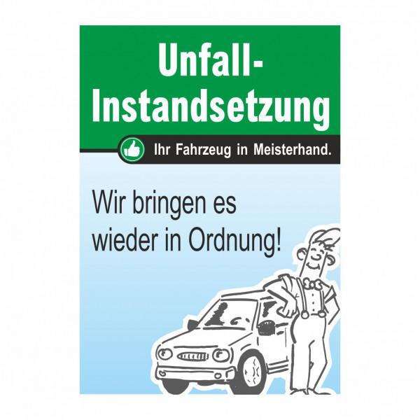 """Plakat DIN A0 """"Unfall-Instandsetzung"""""""