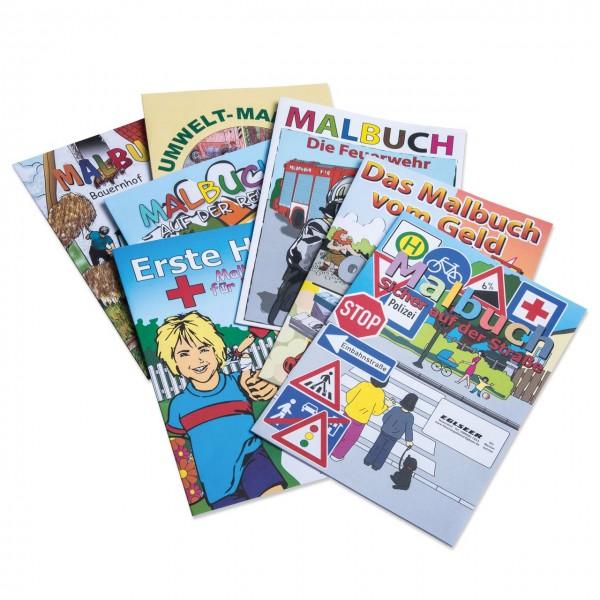 Malbuch für Kinder in DIN A4 mit versch. Themen als Werbegeschenk