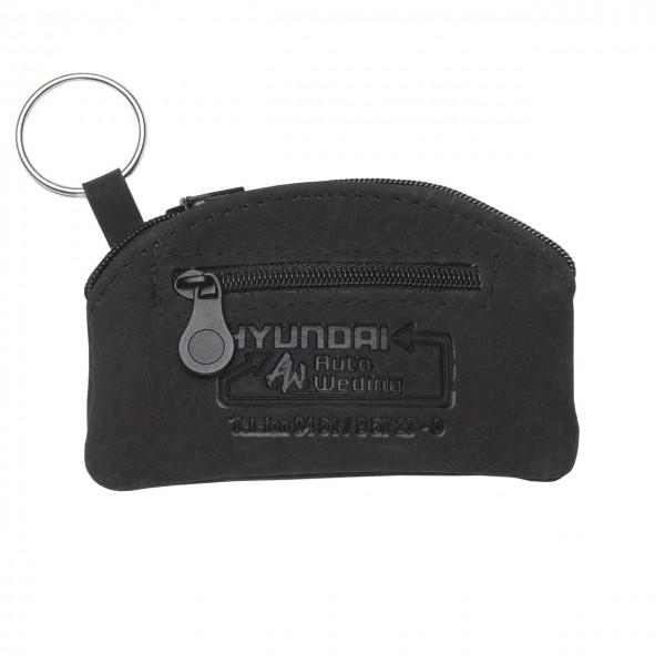 Schlüsseltasche in abgerundeter Form, mit zusätzlichem Kleingeldfach