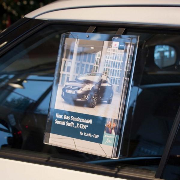 Info-Box oben offen, für den Inneneinsatz, für DIN A4 Formate