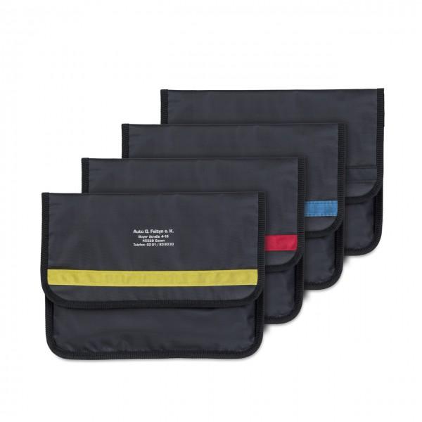 Wagenpapiertasche aus Nylon-Gewebe, im Großformat mit markantem Designstreifen