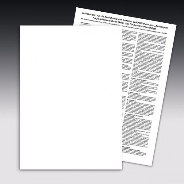 Auftragsbestätigung mit Arbeitskarte, Einzelsatz DIN A4, ohne Firmeneindruck