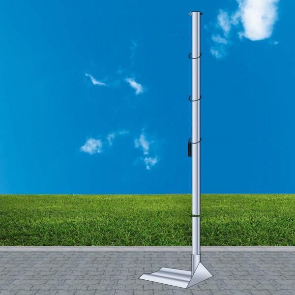 Mobiler Fahnenmast ohne Ausleger, Gesamthöhe ca. 5,00 m