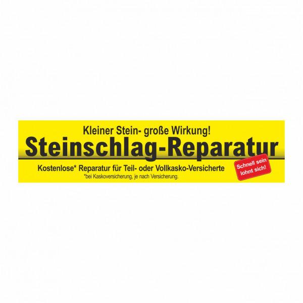 """Werbebanner """"Steinschlag-Reparatur"""", 300 x 70 cm"""