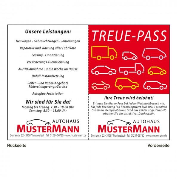 """Treue-Pass, Motiv: """"Fahrzeuge"""""""