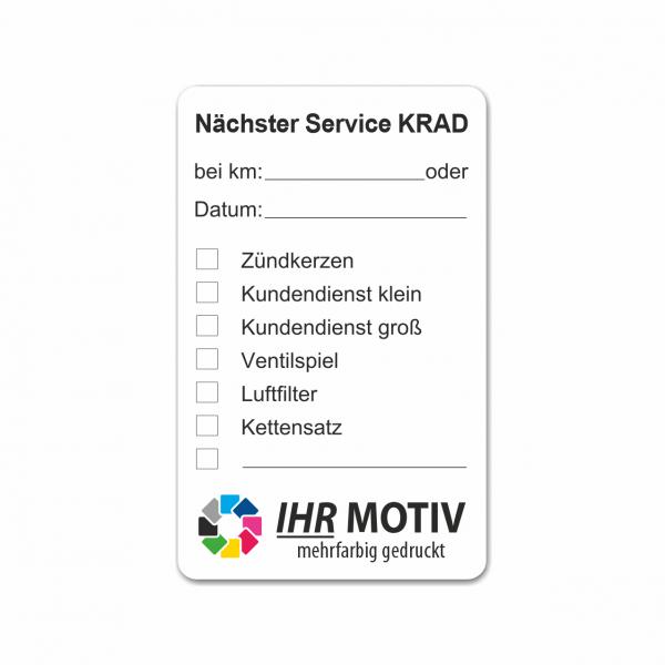 "Service-Aufkleber aus PVC-Folie, Größe: 50 x 80 mm, Motiv ""Krad-Service"""