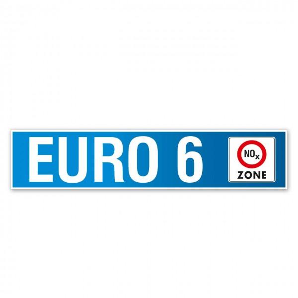 Scheibenaufkleber EURO 6, 650 x 140 mm