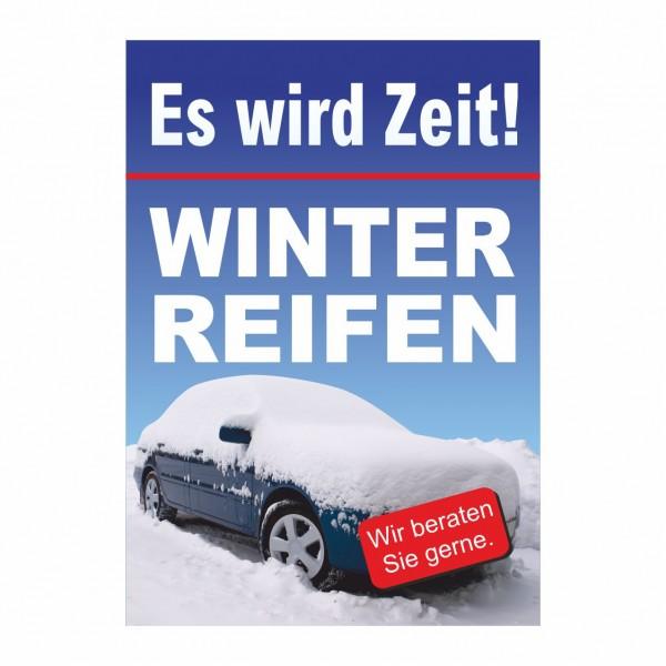 """Plakat DIN A1 """"Zeit für Winterreifen"""""""