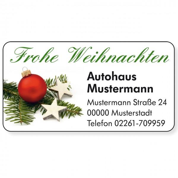 """Weihnachts-Aufkleber, Motiv """"Kugel"""""""