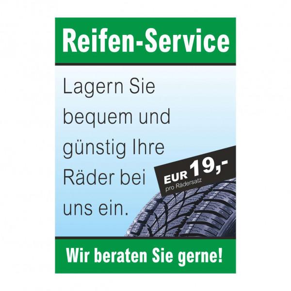 """Plakat DIN A0 """"Reifen-Service - Rädereinlagerung"""""""