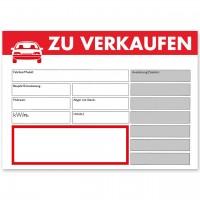 """Verkaufsschild DIN A3 """"ZU VERKAUFEN"""", mit Universal-Preisfeld"""