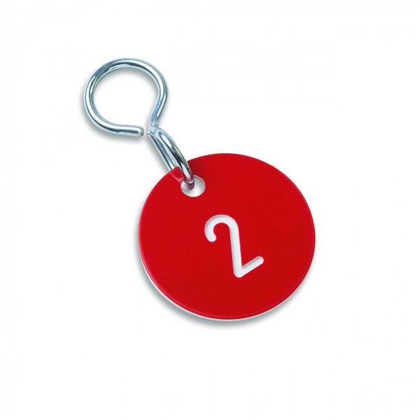 """Zahlenmarken """"Numero"""", Farbe: rot/weiß"""