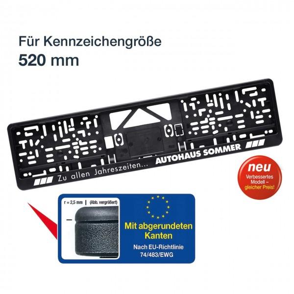 Kennzeichenhalter LOGOPLUS, schwarz, für Kennzeichengröße 520 mm