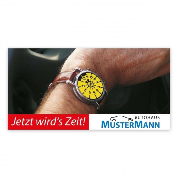 """Maxi-Postkarte """"HU/AU-Erinnerung"""", Motiv: Uhr"""