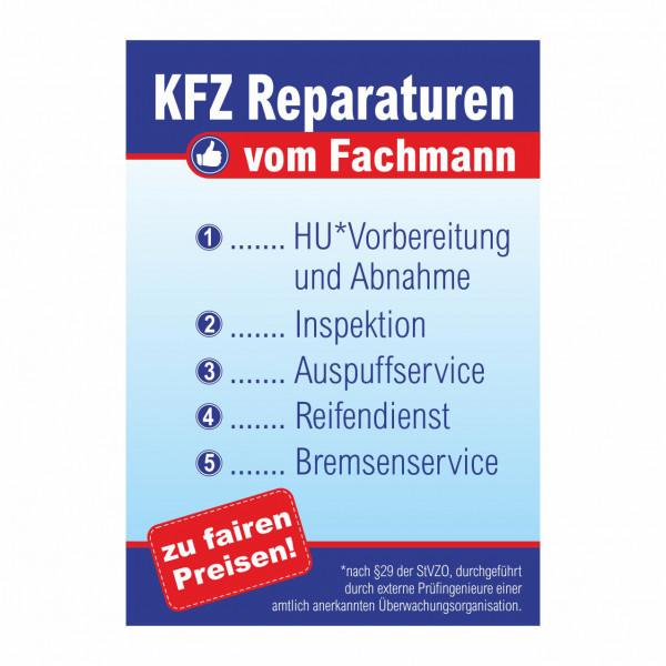 """Plakat DIN A1 """"KFZ Reparaturen vom Fachmann"""""""