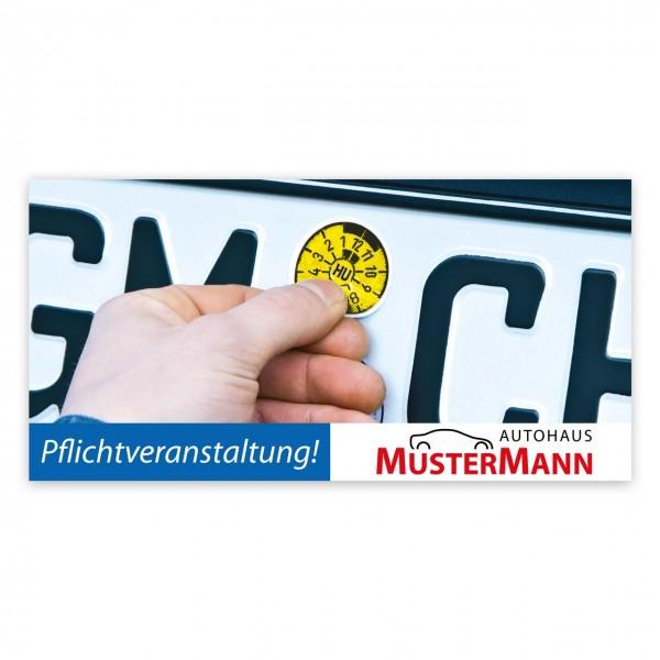 "Maxi-Postkarte ""HU/AU-Erinnerung"", Motiv: Plakette"
