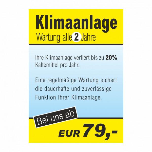"""Plakat DIN A1 """"Klimaanlagen-Wartung"""""""