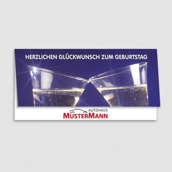 """Geburtstags-Klappkarte, Motiv """"Sektgläser"""""""