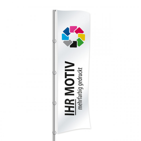 Fahne 100 x 400 cm Polyester Fahnenstoff