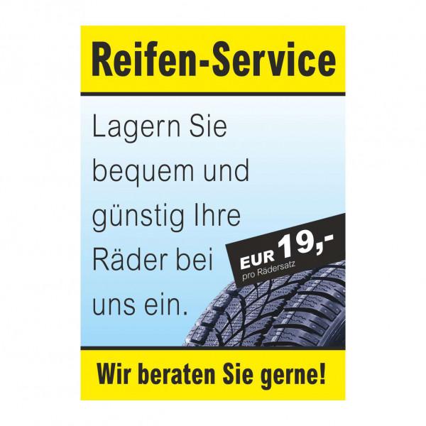 """Plakat DIN A1 """"Reifen-Service - Rädereinlagerung"""""""