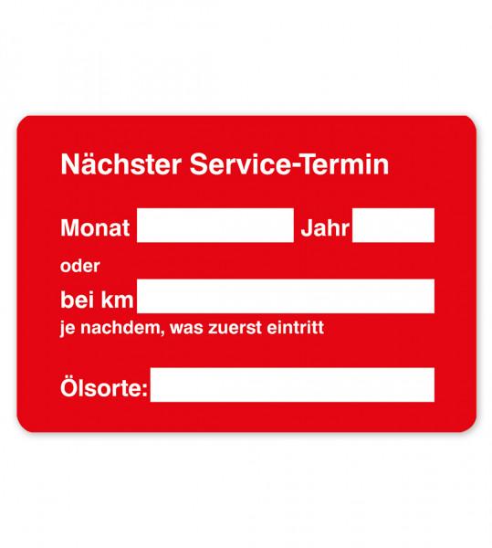 Service-Etiketten aus PVC-Folie, ohne Firmeneindruck