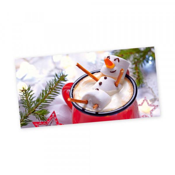 "Weihnachts-Postkarte, Motiv ""Marshmallow"""