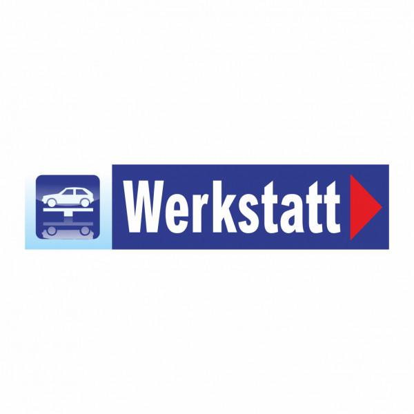 """Werbebanner """"Werkstatt"""", 300 x 70 cm"""