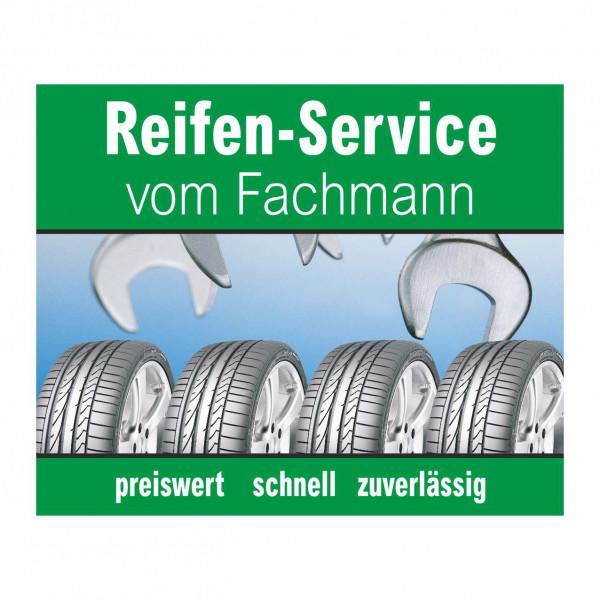 """Werbebanner """"Reifen-Service vom Fachmann"""", 274 x 174 cm"""