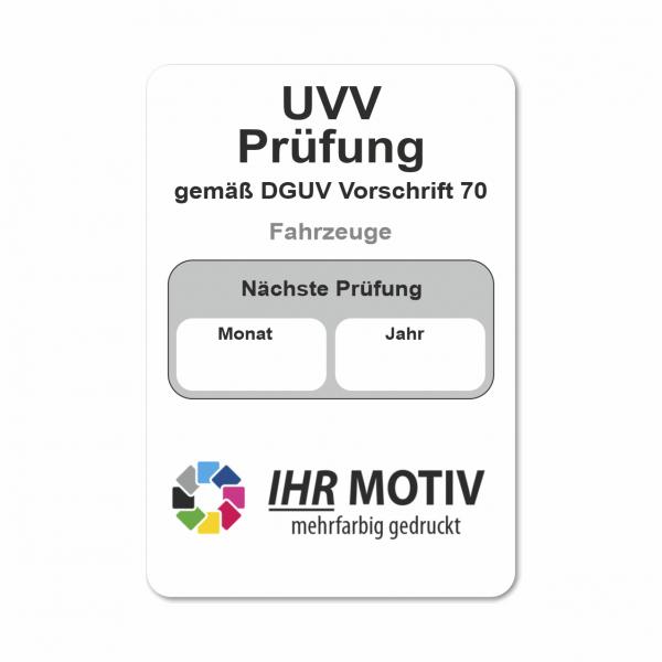 UVV Aufkleber mit DGUV Vorschrift zur Auswahl