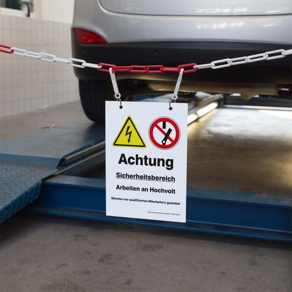 """Kennzeichnungsschild """"Sicherheitsbereich Hochvolt (HV)"""""""