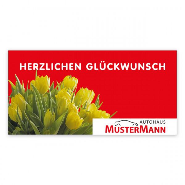 Geburtstags-Maxi-Postkarte, Motiv: Tulpen