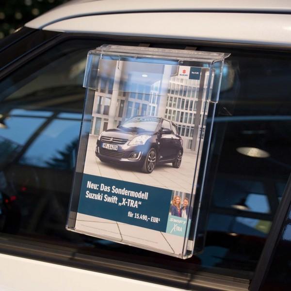 Info-Box mit Schutzklappe für den Außeneinsatz, für DIN A4 Formate