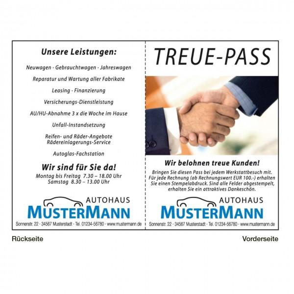 """Treue-Pass, Motiv: """"Hände"""""""