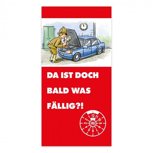 "Maxi-Postkarte ""HU/AU-Erinnerung"", Motiv ""Detektiv"""