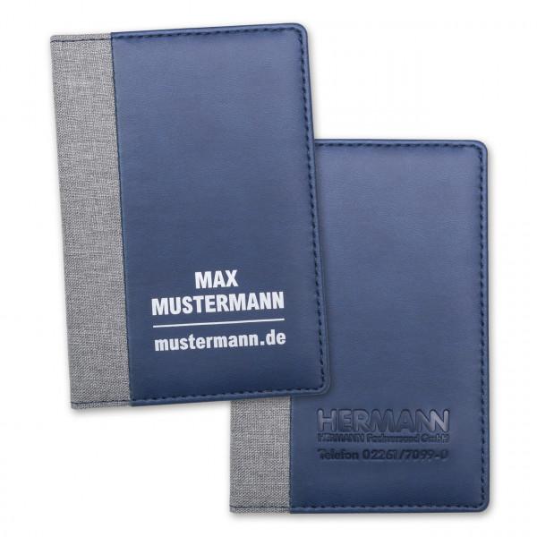 "Ausweistasche ""Metropolitan Plus"" blau/hellgrau"