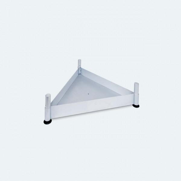 Dreieck-Bodenwanne aus Aluminium