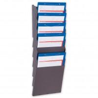 Griffsicht-System. Wandhalter aus Stahlblech für DIN A4 Auftragstaschen und -Formulare