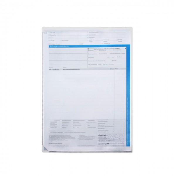 Auftrags-Schutzhüllen DIN A4, ohne Unterlagen-Fach, leichte Ausführung, PVC transparent