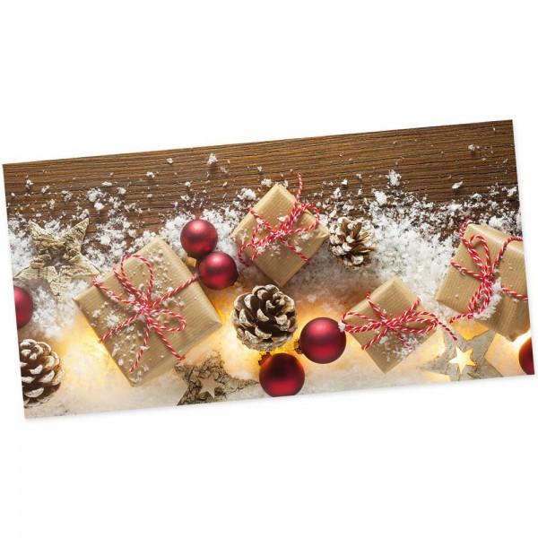 """Weihnachts-Postkarte, Motiv """"Geschenke"""""""