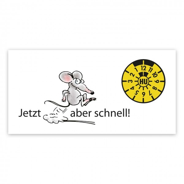 "Maxi-Postkarte ""HU/AU-Erinnerung"", Motiv ""Maus"""