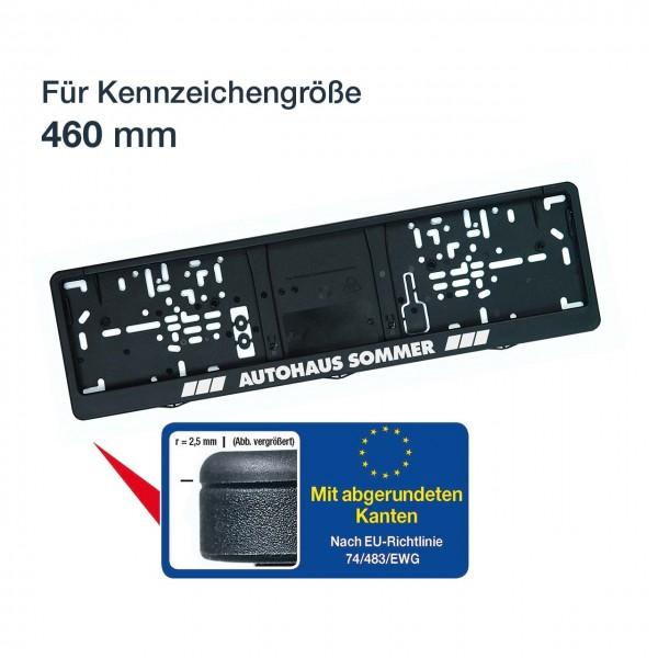 Kennzeichenhalter mit Klapprahmen LOGOPLUS schwarz 460 mm
