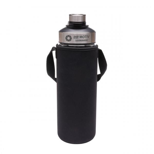 Glasflasche mit Thermomanschette