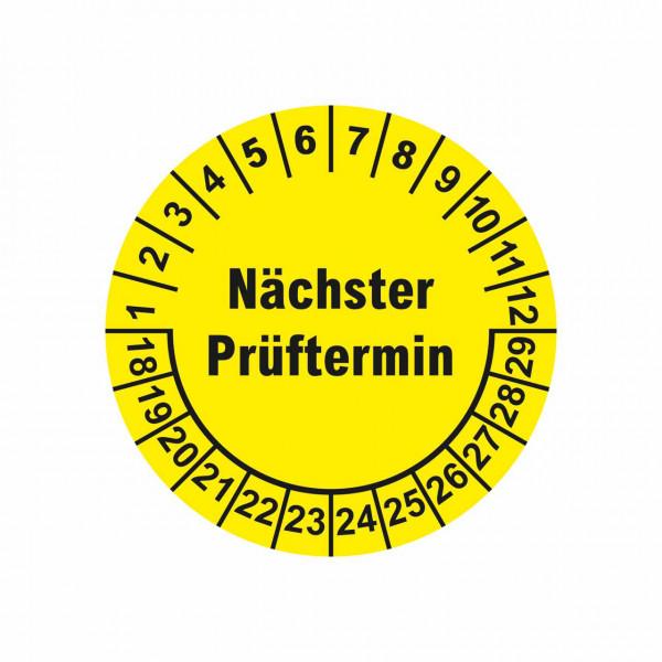 """Prüfplaketten """"Nächster Prüftermin"""" Ø 30 mm"""