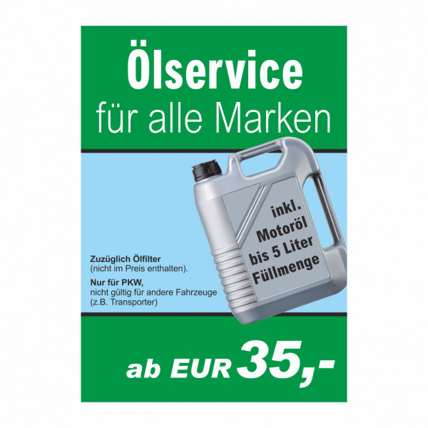 "Plakat DIN A1 ""Ölservice"""